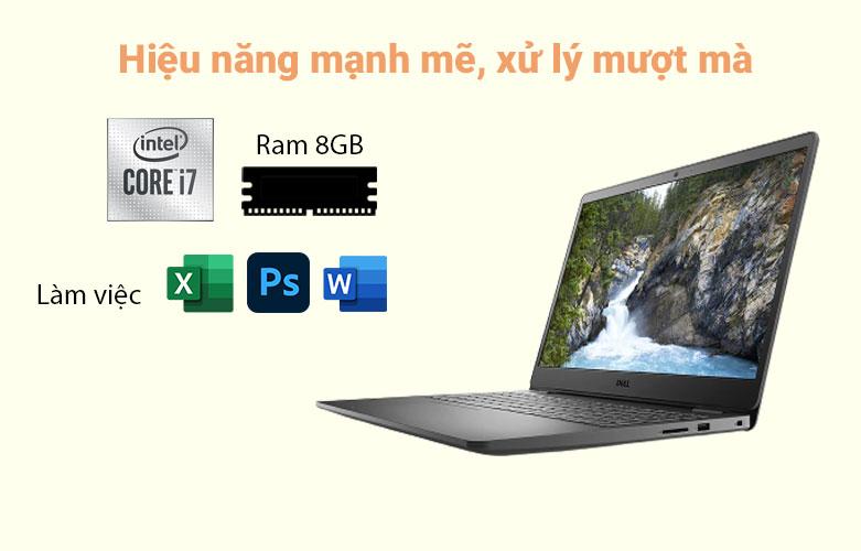 Laptop Dell Vostro 15 3500 (3500-7G3982) (i7-1165G7) (Đen) | Hiệu năng mạnh mẽ, xử lý mượt mà