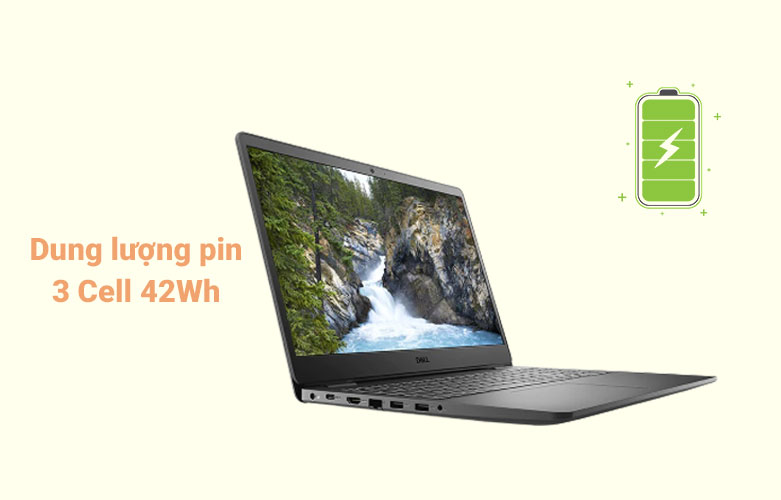 Laptop Dell Vostro 15 3500 (3500-7G3982) (i7-1165G7) (Đen) | Dung lượng pin 3 cell 42 Wh