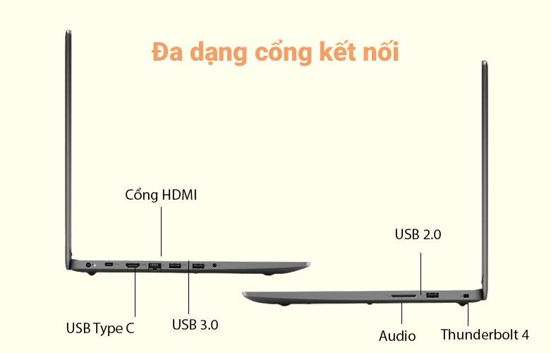 Laptop Dell Vostro 15 3500 (3500-7G3982) (i7-1165G7) (Đen) | Đa dạng cổng kết nối