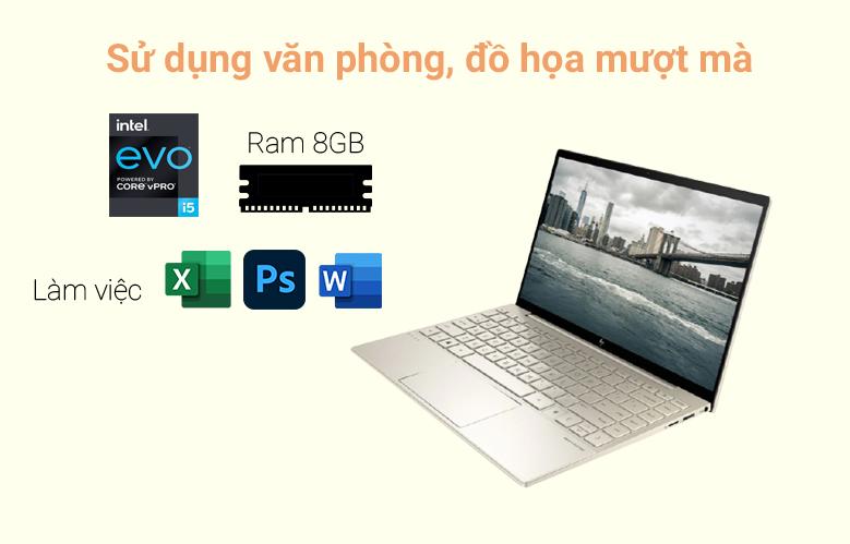 Laptop HP Envy 13-ba1027TU (2K0B1PA) (i5-1135G7) (Vàng)   Cấu hình mạnh mẽ