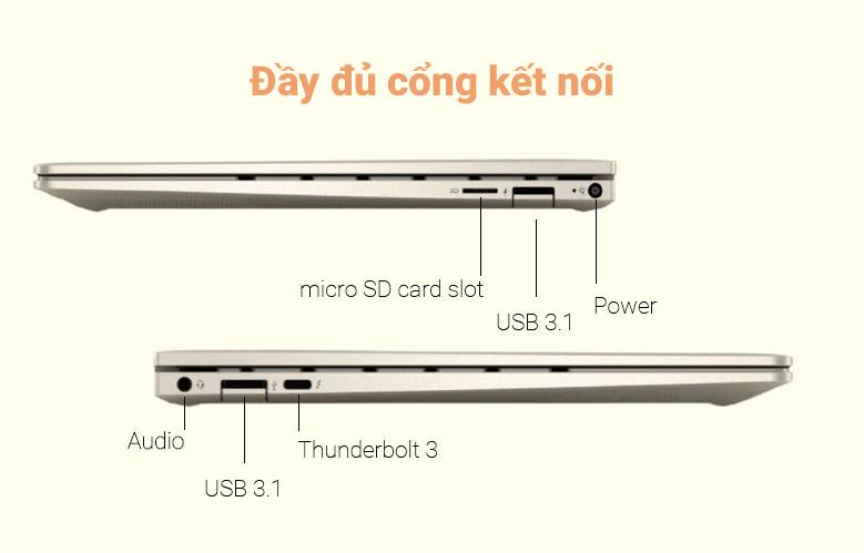 Laptop HP Envy 13-ba1027TU (2K0B1PA) (i5-1135G7) (Vàng)   Đầy đủ cổng kết nối