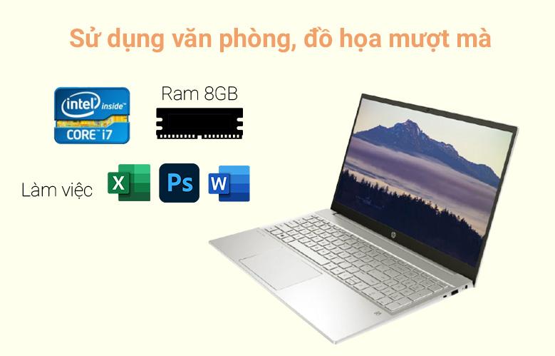 Laptop HP Pavilion 15-eg0007TX (2D9D5PA) (i7-1165G7) (Vàng) | Sử dụng văn, đồ họa mượt mà