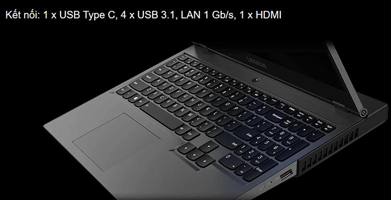 Laptop Lenovo Legion 5P 15IMH05-82AY003EVN   Cổng kết nối đa dạng