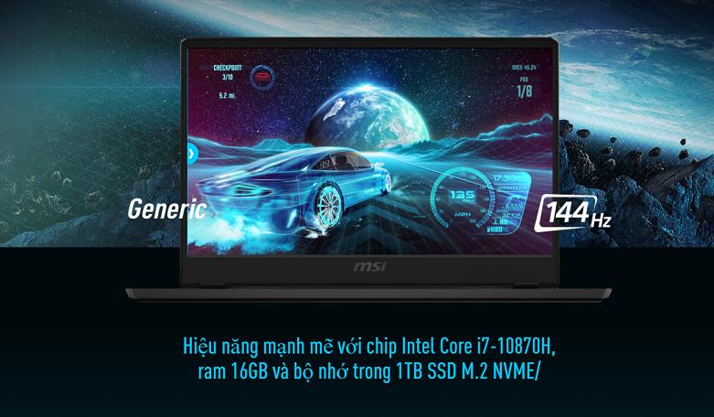 Laptop MSI Leopard GP66 10UE-206VN | Hiệu năng mạnh mẽ