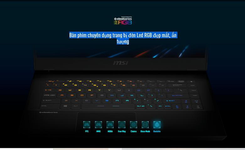 Laptop MSI Leopard GP66 10UE-206VN | Màn phím chuyên dụng