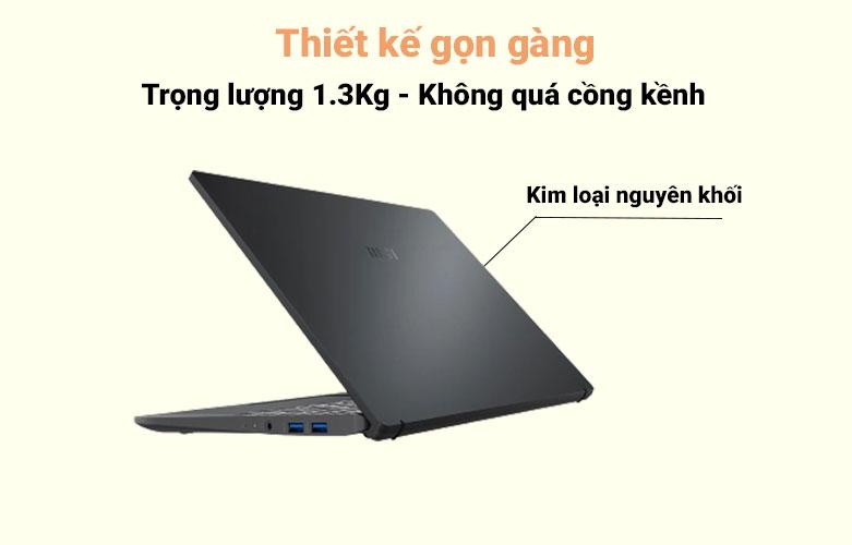 Laptop MSI Modern 14 B10MW-427VN (i3-10110U) | Thiết kế gọn gàng