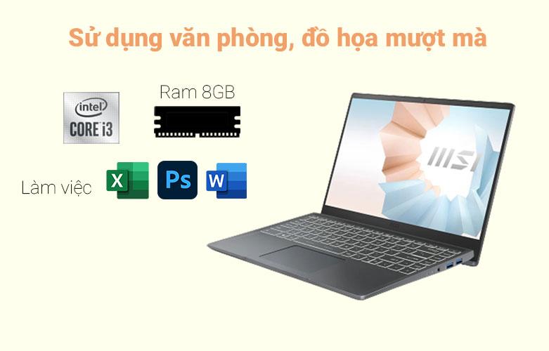 Laptop MSI Modern 14 B10MW-427VN (i3-10110U) | Sử dụng văn phòng, đò họa mượt mà