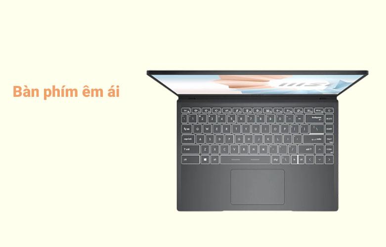 Laptop MSI Modern 14 B10MW-427VN (i3-10110U) | Bàn phím êm ái