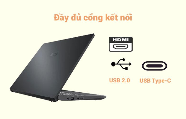 Laptop MSI Modern 14 B10MW-427VN (i3-10110U) | Đầy đủ cổng kết nối