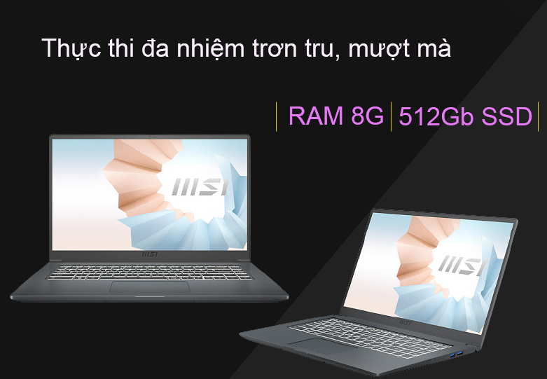 Laptop MSI Modern 15 A11M 200VN   Đa nhiệm mượt mà
