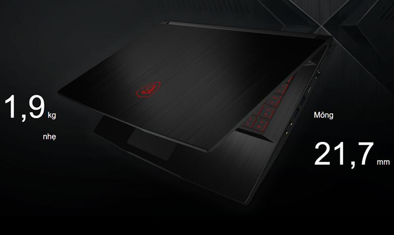 Laptop MSI Thin GF63 10SC-020VN (i7-10750H) (Đen) | Thiết kế sang trọng