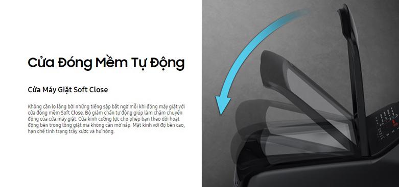 máy giặt Samsung Inverter 9 kg WA90T5260BY/SV | Cửa đóng mềm tự động