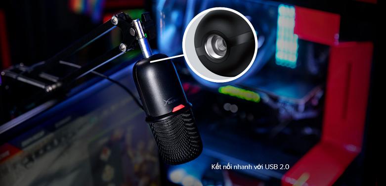Micro Kingston HyperX SoloCast HMIS1X-XX-BK/G (Đen) | Kết nối Bluetooth nhanh chóng
