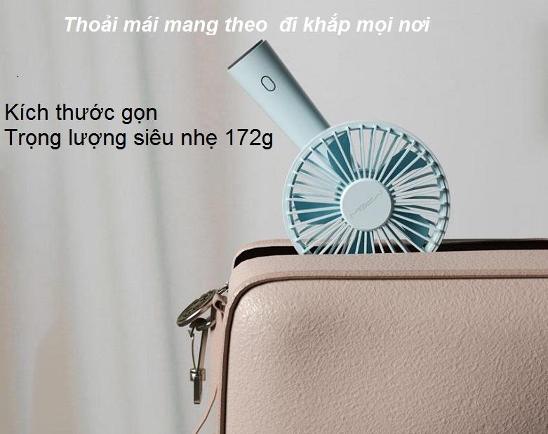 Quạt Thông Minh Mipow Flip Adjust Mini Fan (Xanh) | Kích thước nhỏ gọn