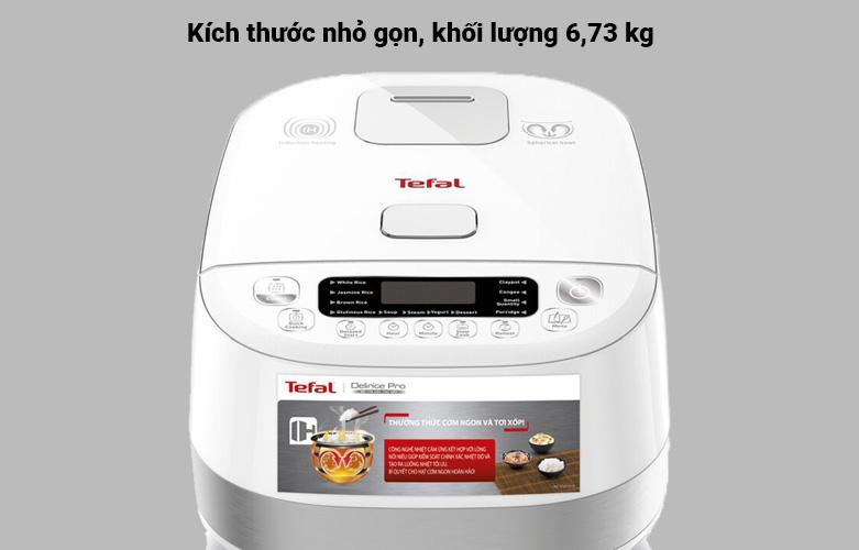 Nồi cơm điện tử Tefal RK808168 - 1.5L, 1200W | Kích thước nhỏ gọn, khổi lượng 6,73kg