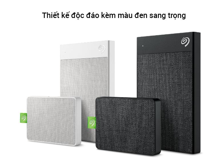 Ổ cứng gắn ngoài SSD Seagate Ultra Touch 1TB Black (STJW1000401) | Thiết kế độc đáo kèm màu đen sang trọng