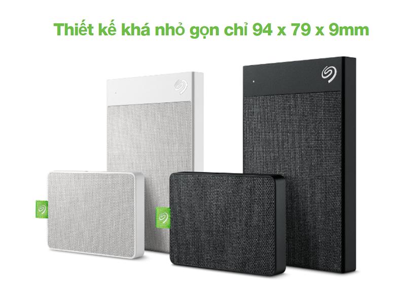 Ổ cứng gắn ngoài SSD Seagate Ultra Touch 500GB Black (STJW500401)   Thiết kế nhỏ gọn