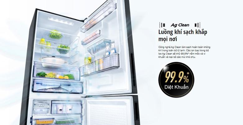 Tủ lạnh Panasonic Inverter 368 lít NR-BX410WKVN | Công nghệ kháng khẩun Ag