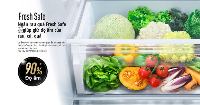 Tủ lạnh Panasonic Inverter 368 lít NR-BX410WKVN | Độ ẩm 90%