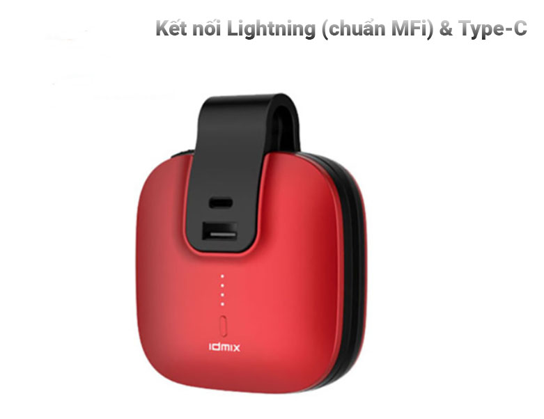 Pin sạc dự phòng Colorful IDMIX Travel - 5000mAh - Primary Color | Kết nối Lighting