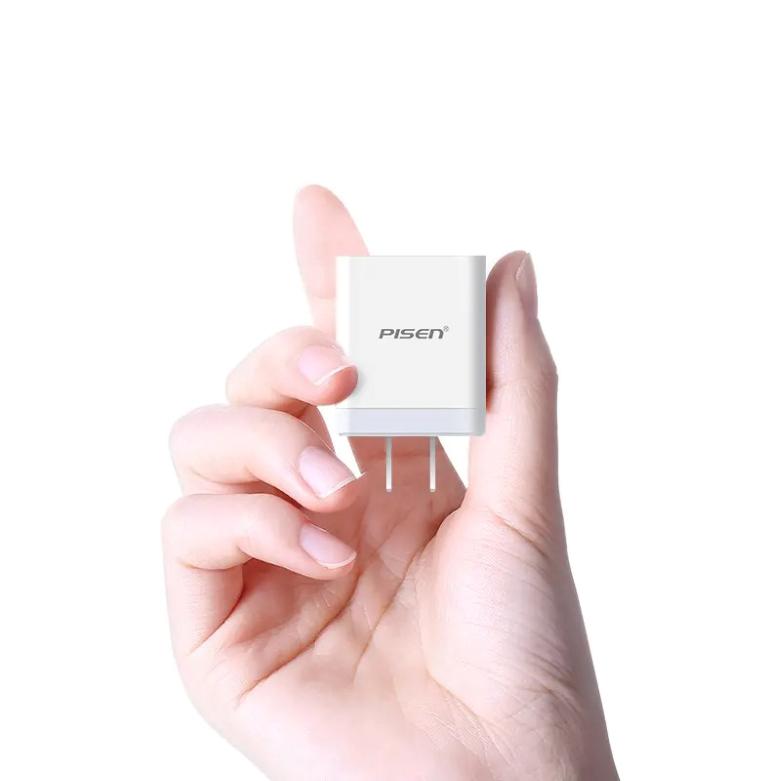 Sạc Điện Thoại Pisen USB Fast Wall Charger QC 18W TS-C092 | Thiết kế nhỏ gọn dễ dàng mang đi