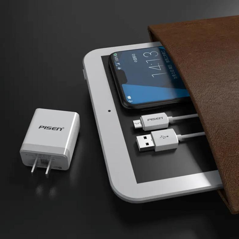 Sạc Điện Thoại Pisen USB Fast Wall Charger QC 18W TS-C092 | Công suất sạc ổn định