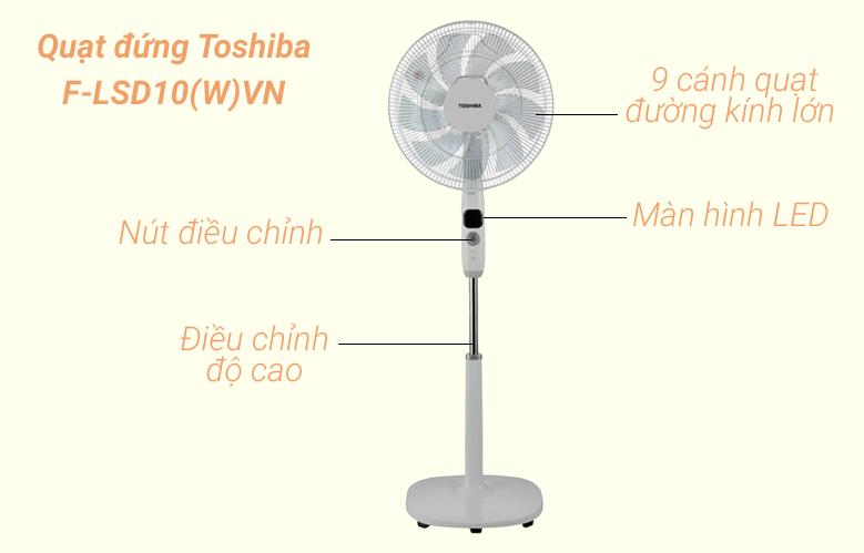 Quạt đứng Toshiba F-LSD10(W)VN   Thiết kế hiện đại