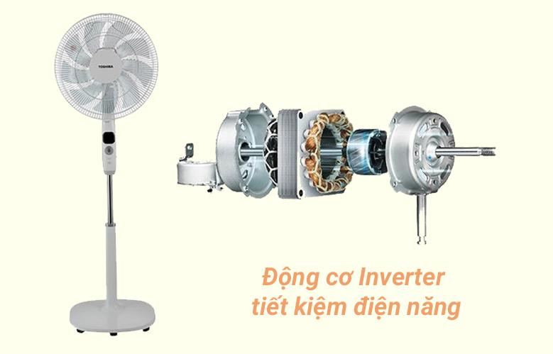Quạt đứng Toshiba F-LSD10(W)VN   Động cơ Inverter tiết kiệm điện năng