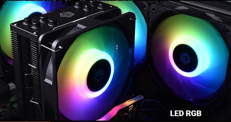 Quạt CPU ID-COOLING SE-224-XT ARGB V2   Trangh bị đèn LED