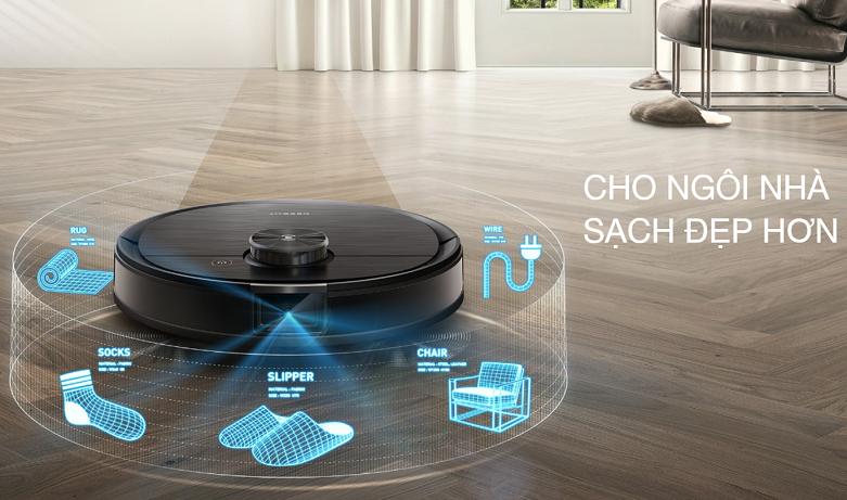 Robot hút bụi lau nhà thông minh Ecovacs Deebot OZMO T8 | Trang bị chip set thông minh