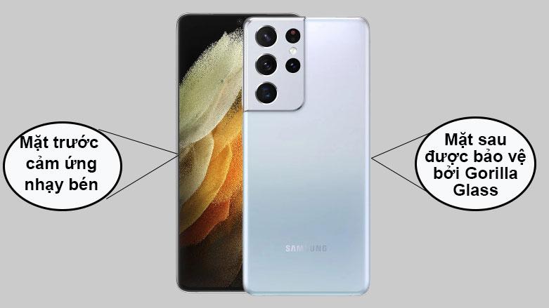 Samsung Galaxy S21 Ultra 5G (12+128GB) SM-G998BZSDXXV (Silver) | Mặt trước cảm ứng