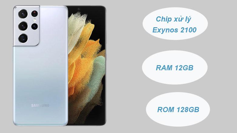 Samsung Galaxy S21 Ultra 5G (12+128GB) SM-G998BZSDXXV (Silver) | Cấu hình mạnh mẽ