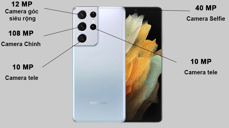 Samsung Galaxy S21 Ultra 5G (12+128GB) SM-G998BZSDXXV (Silver) | Camera sắc nét