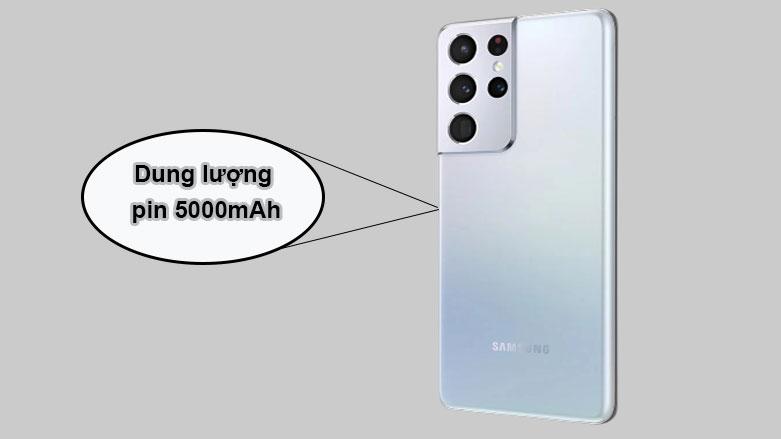 Samsung Galaxy S21 Ultra 5G (12+128GB) SM-G998BZSDXXV (Silver) | Dung lượng pin lớn
