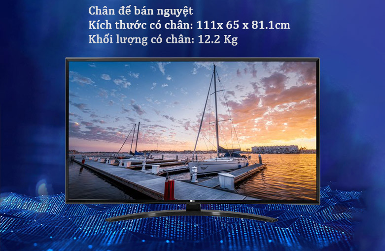 Smart Tivi LG 4K 49 inch 49UN7400PTA | Chân đế bán nguyệt