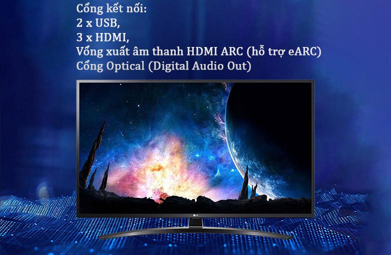 Smart Tivi LG 4K 49 inch 49UN7400PTA | Cổng kết nối hiện đại