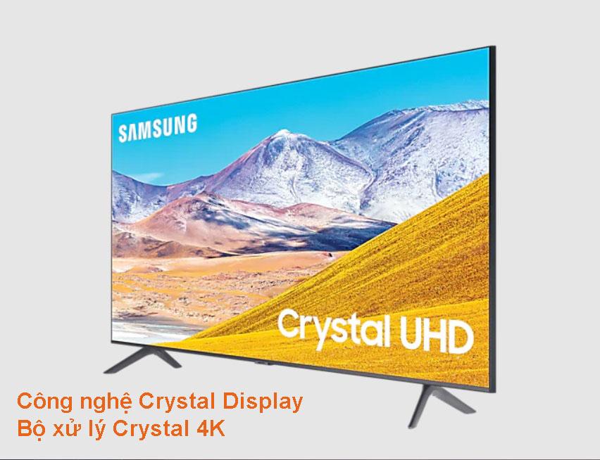 Smart Tivi Samsung 4K 43 inch UA43TU8100KXXV | Công nghệ Crystal Display