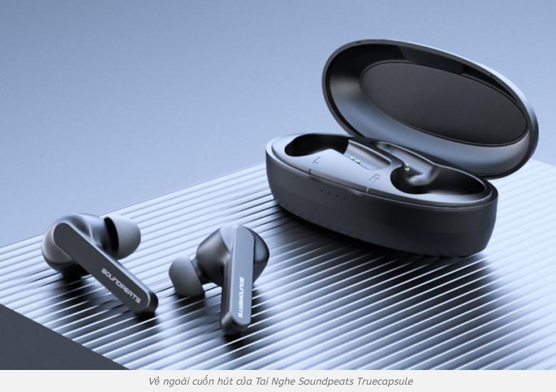 Tai nghe Bluetooth True Wireless Soundpeats TrueCapsule   Thiết kế nổi bật