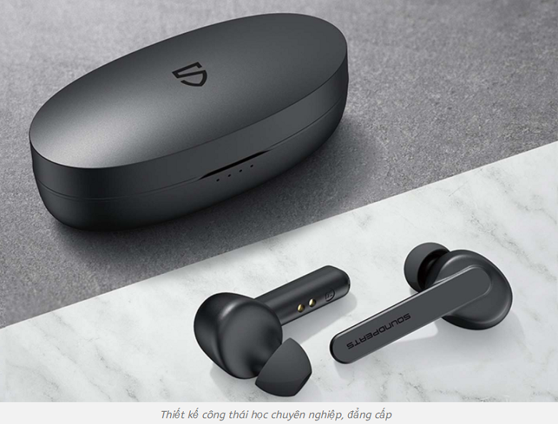 Tai nghe Bluetooth True Wireless Soundpeats TrueCapsule   Phong cách tai nghe Công Thái Học