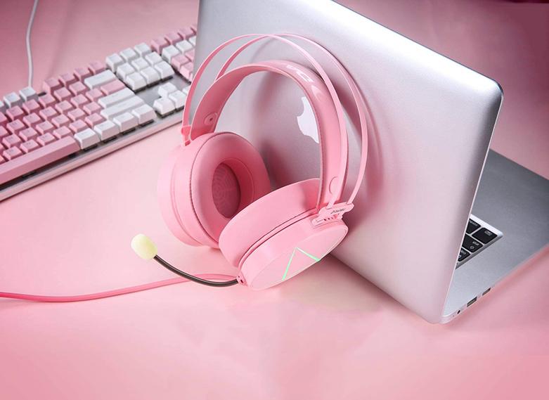Tai nghe DareU EH722X (Hồng) | Tăng trải nghiệm âm thanh