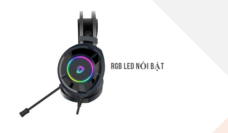 Tai nghe gaming DareU EH469 RGB (Đen) | RGB Led nổi bật
