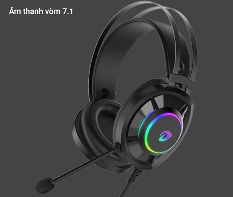 Tai nghe gaming DareU EH469 RGB (Đen) | Âm thanh vòm 7.1