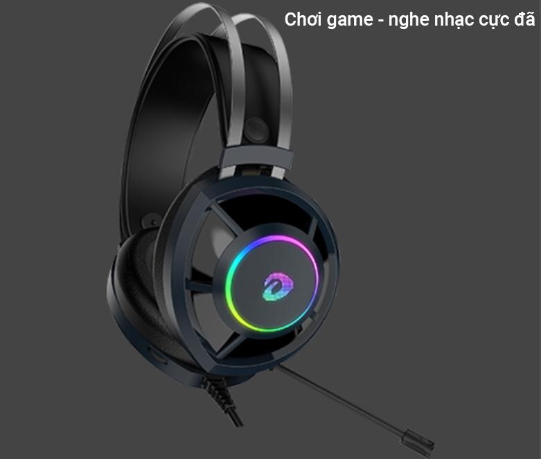 Tai nghe gaming DareU EH469 RGB (Đen) | Mang đến trải nghiệm tuyệt vời