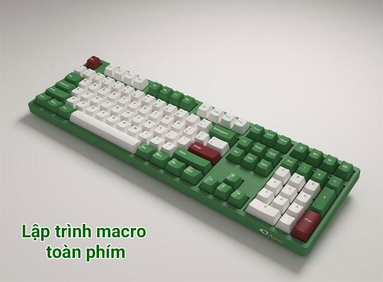 Bàn phím cơ Akko 3098 DS Matcha Red Bean (Akko Pink Switch V2) | Lập trình macro toàn phím