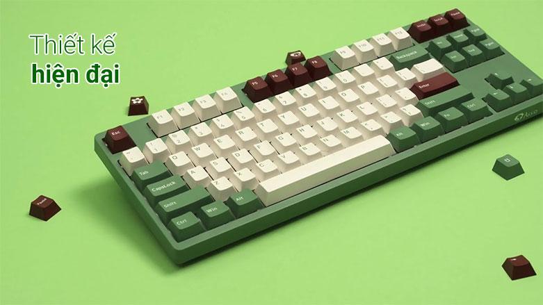 Bàn phím cơ Akko 3098 DS Matcha Red Bean (Akko Pink Switch V2) | Thiết kế hiện đại