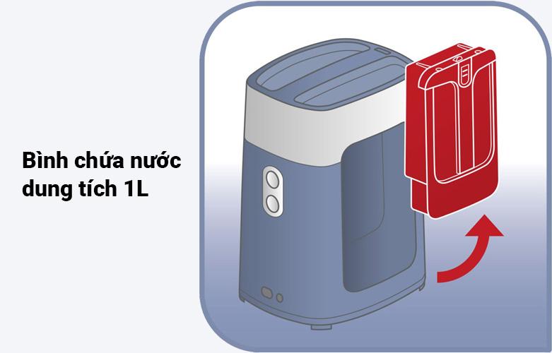 Bàn ủi hơi nước cầm tay dạng đứng Tefal QT1020E0 | Bimhf chứa nước dung tích 1L