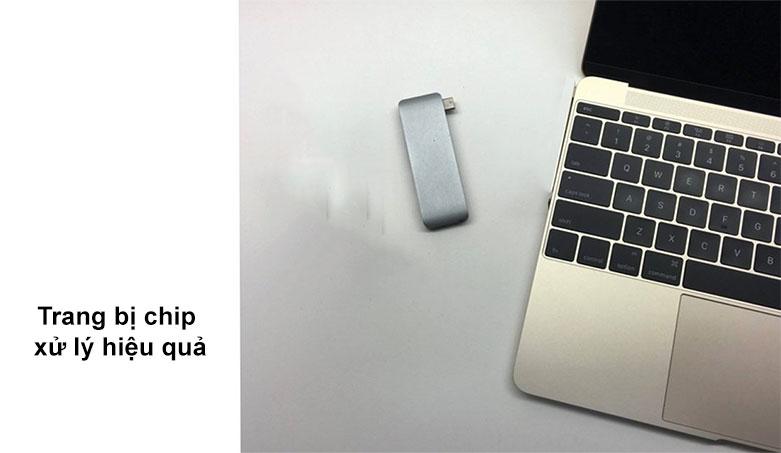 Hub USB-C 5 in 1 Hyper Drive HD21B-GR | Trang bị chip xử lý hiệu quả