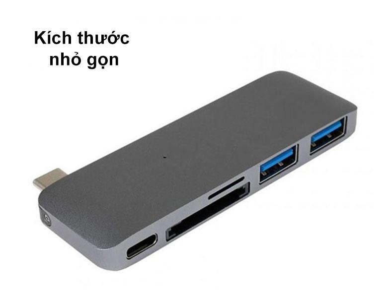 Hub USB-C 5 in 1 Hyper Drive HD21B-GR | Kích thước nhỏ gọn
