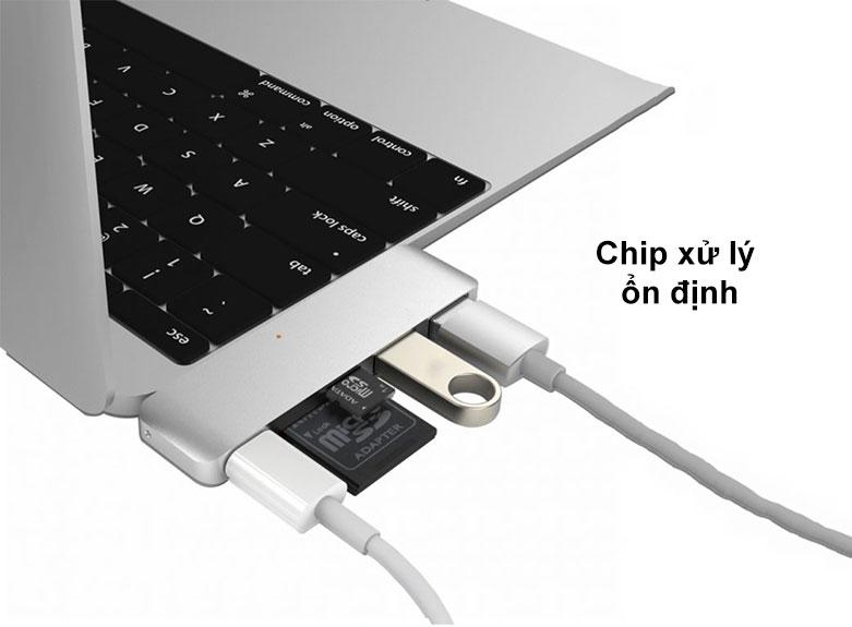 Hub USB-C 5 in 1 Hyper Drive HD21B-SL | Chip xử lý ổn định