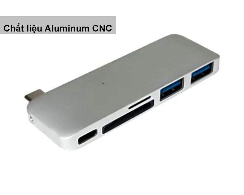 Hub USB-C 5 in 1 Hyper Drive HD21B-SL | Chất liệu bền bỉ